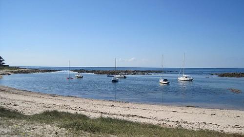 Baie du Castouillet au Croisic, bateaux dans la baie, photo Emmanuel PARENT
