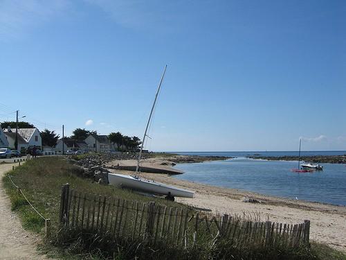 Baie du Castouillet au Croisic, bateaux sur la plage, photo Emmanuel PARENT