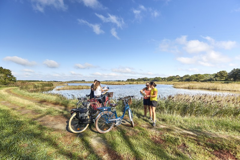 Balade à vélo, circuit de la Duchesse à Saint-Molf en Presqu'île de Guérande