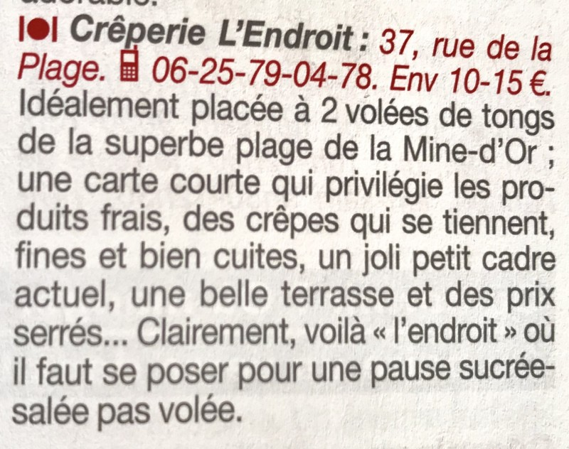 Crêperie-Restaurant l'Endroit Pénestin