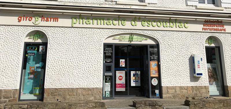 Devanture pharmacie d'Escoublac
