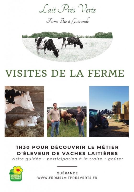Ferme bio Lait Prés Verts - Flyer visite - Guérande
