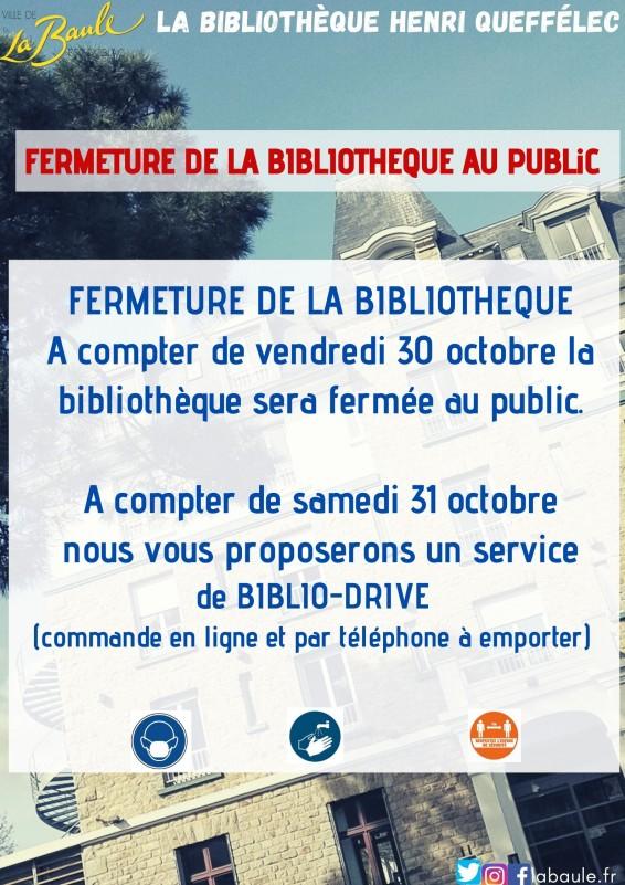 Fermeture de la bibliothèque Henri Queffélec