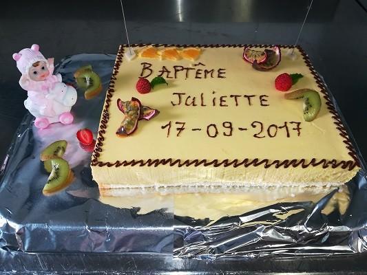 Gâteau du Chef Baptême La Bonne Source Bretagne Plein Sud