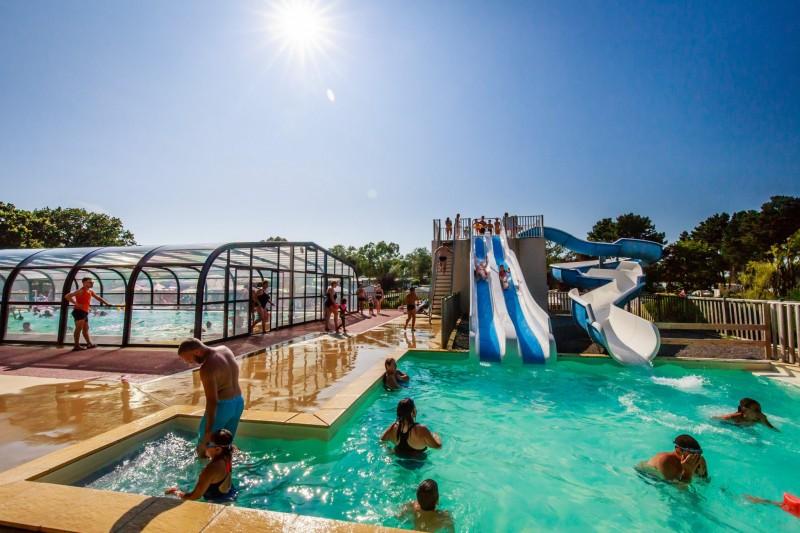 1-Guérande Camping Le Bréhadour -  Parc aquatique chauffé