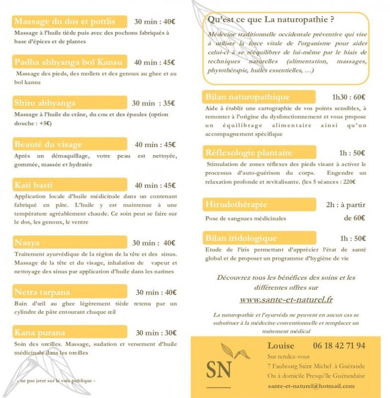Guérande - Santé et Naturel - leaflet