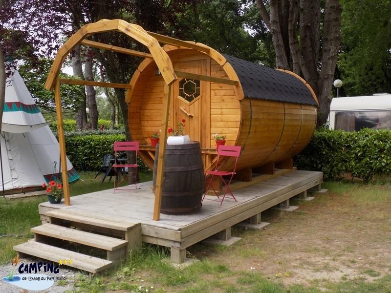 Guérande Camping Etang du Pays Blanc - En campagne - Hébergement insolite - Barrel