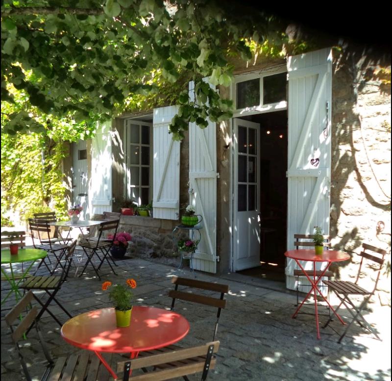 Guérande Salon de Thé Gout'Thé Terrasse extérieure