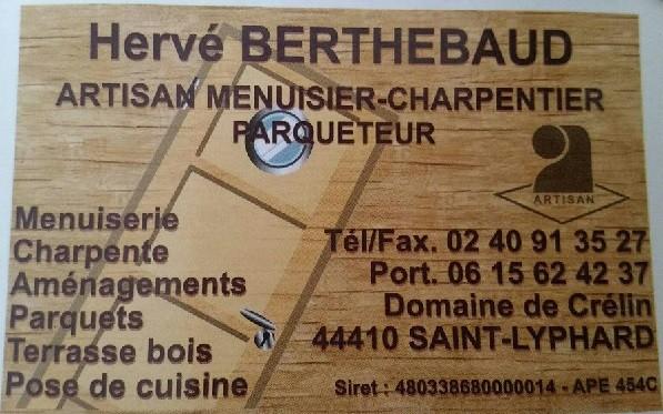 hervé berthebaud artisan menuiserie charpentier parqueteur st lyphard
