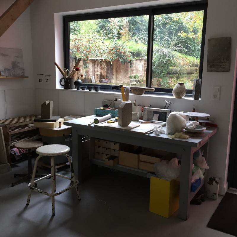 L'Atelier Céramique à St Molf - Atelier de travail