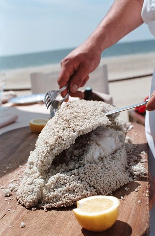 La Baule - Restaurant L'Eden Beach - Bar en croute de sel