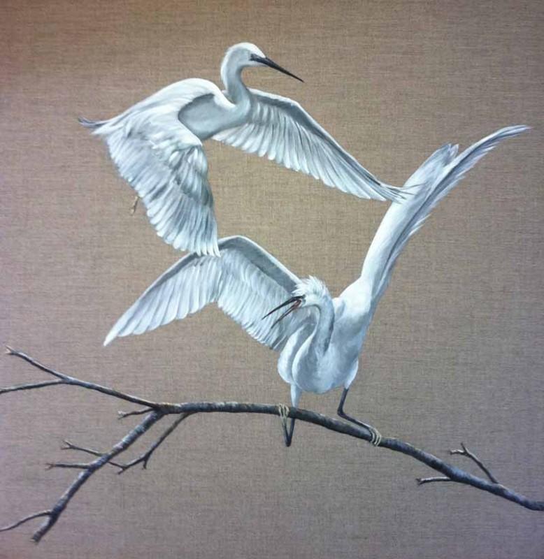 Peinture sur toile Fabienne Laurent à Mesquer-Quimiac