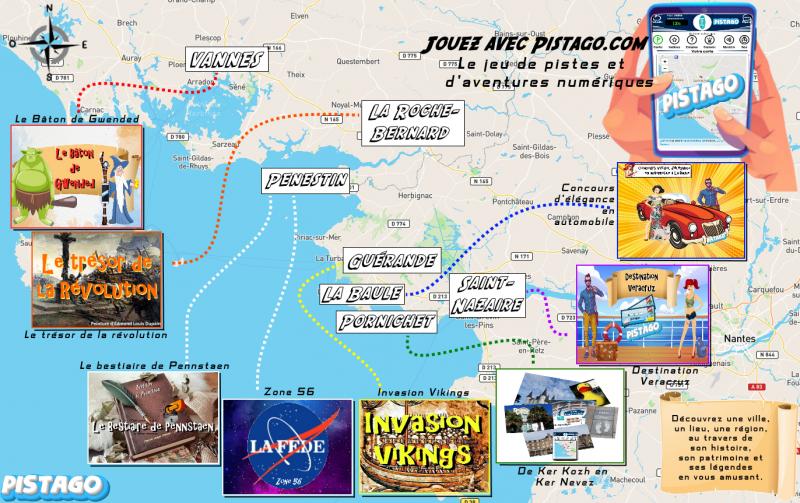 Pistago : jeu de piste à Guérande - carte full