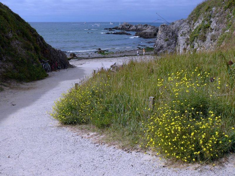 Plage de Convert au Pouliguen, accès au bord de mer