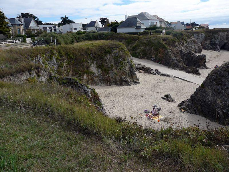 Plage de Convert au Pouliguen, vue de la côte