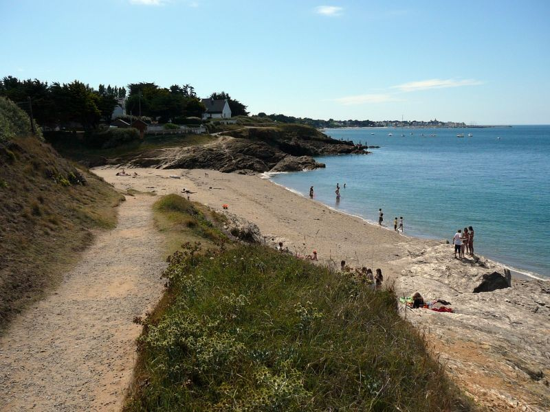 Plage de Pors-Er-Ster à Piriac-sur-Mer, sentier des douaniers