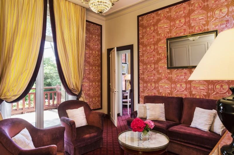 Relais chateau Castel Marie Louise grand salon