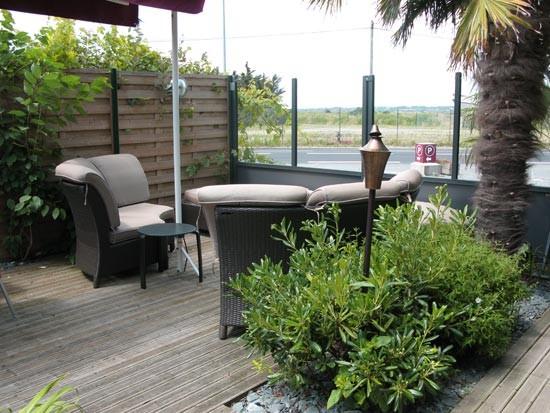 Guérande marais salants, restaurant Hoa, terrasse et vue sur les salines