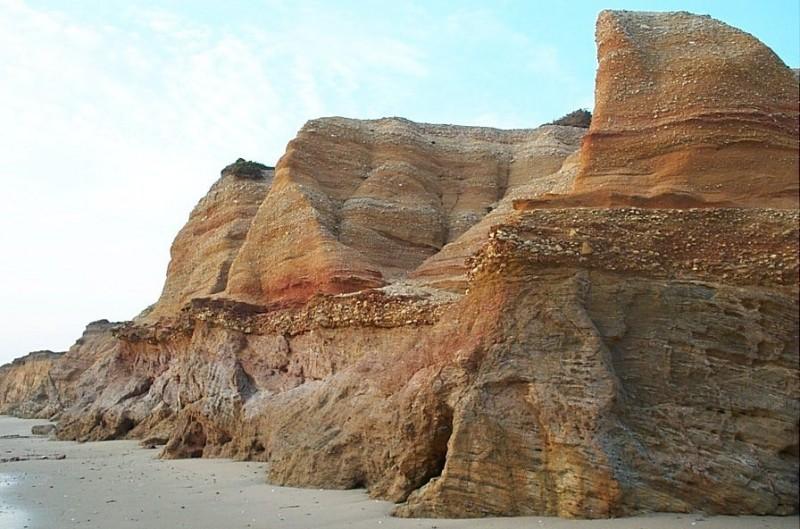 Visite géologique de la Mine d'Or - Sculpture et falaise