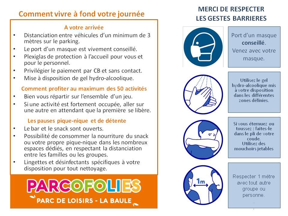 Parcofolies - La Baule - Covid19 - Consignes Sanitaires
