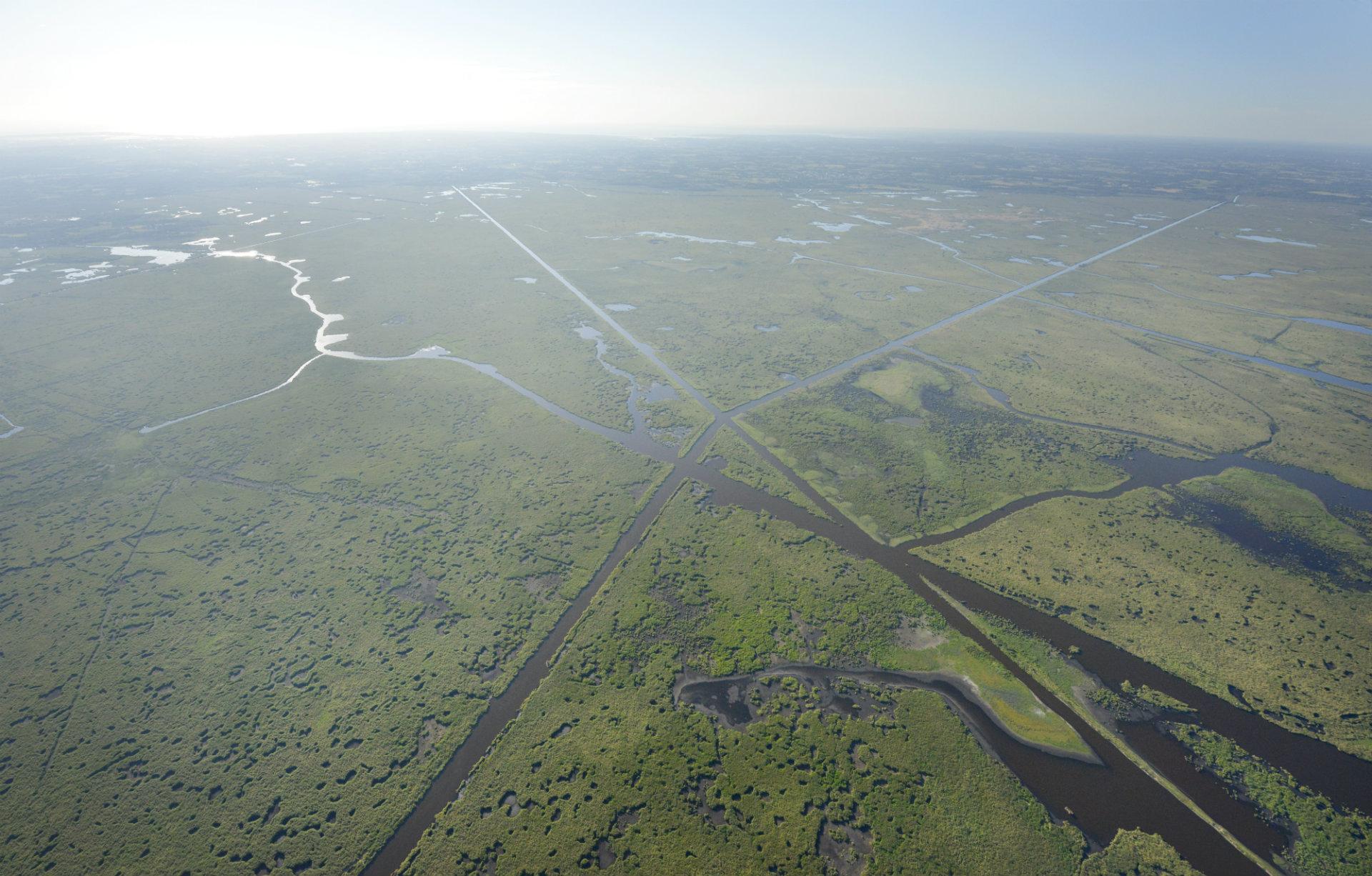 Les marais de Brière vus du ciel - Teddy Locquard - © Teddy Locquard