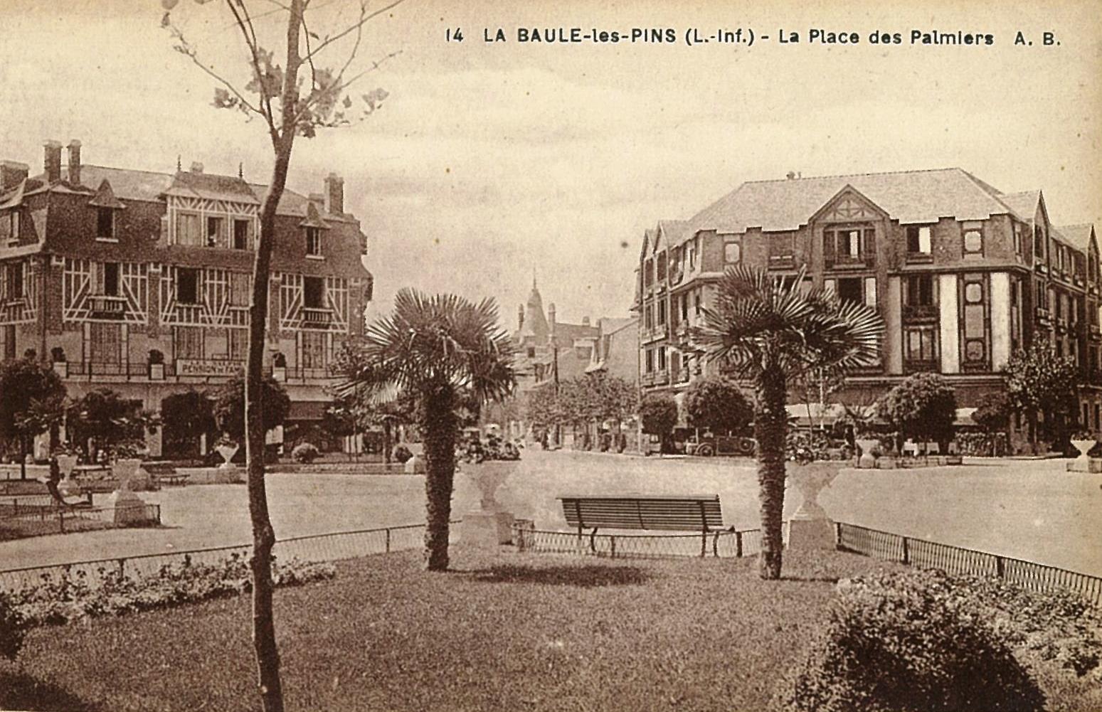 La Baule Les Pins - Place des Palmiers - Archives municipales de La Baule