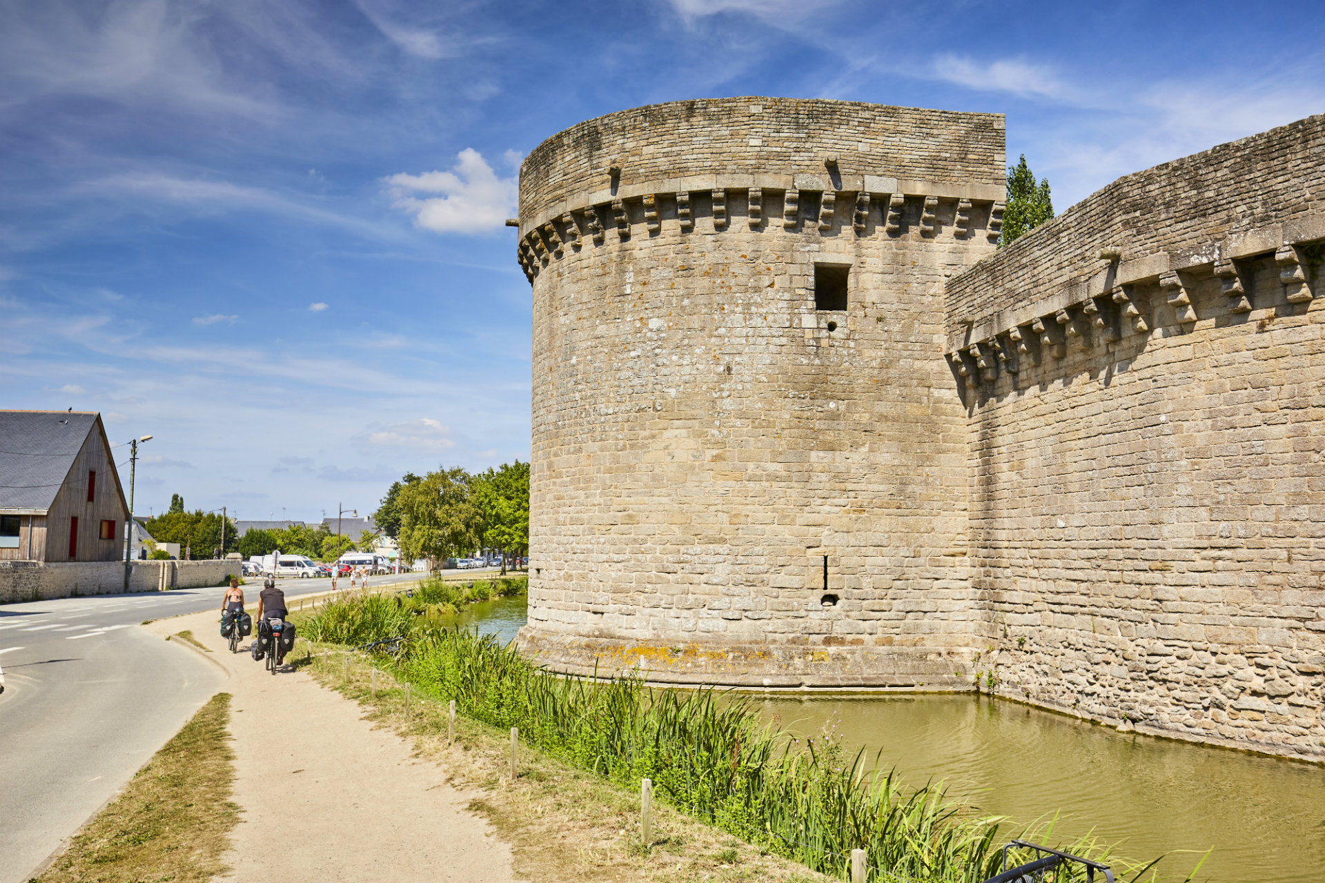 Les remparts de Guérande à vélo