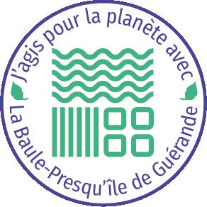 Logo J'agis pour la planète - OTI La Baule Presqu'île de Guérande - © OTI LBPG