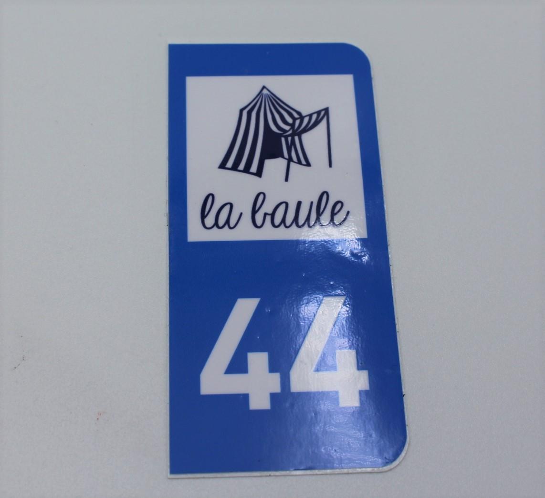 Boutique en ligne - autocollant immatriculation 44LB - Office de tourisme La Baule Presqu'île de Guérande