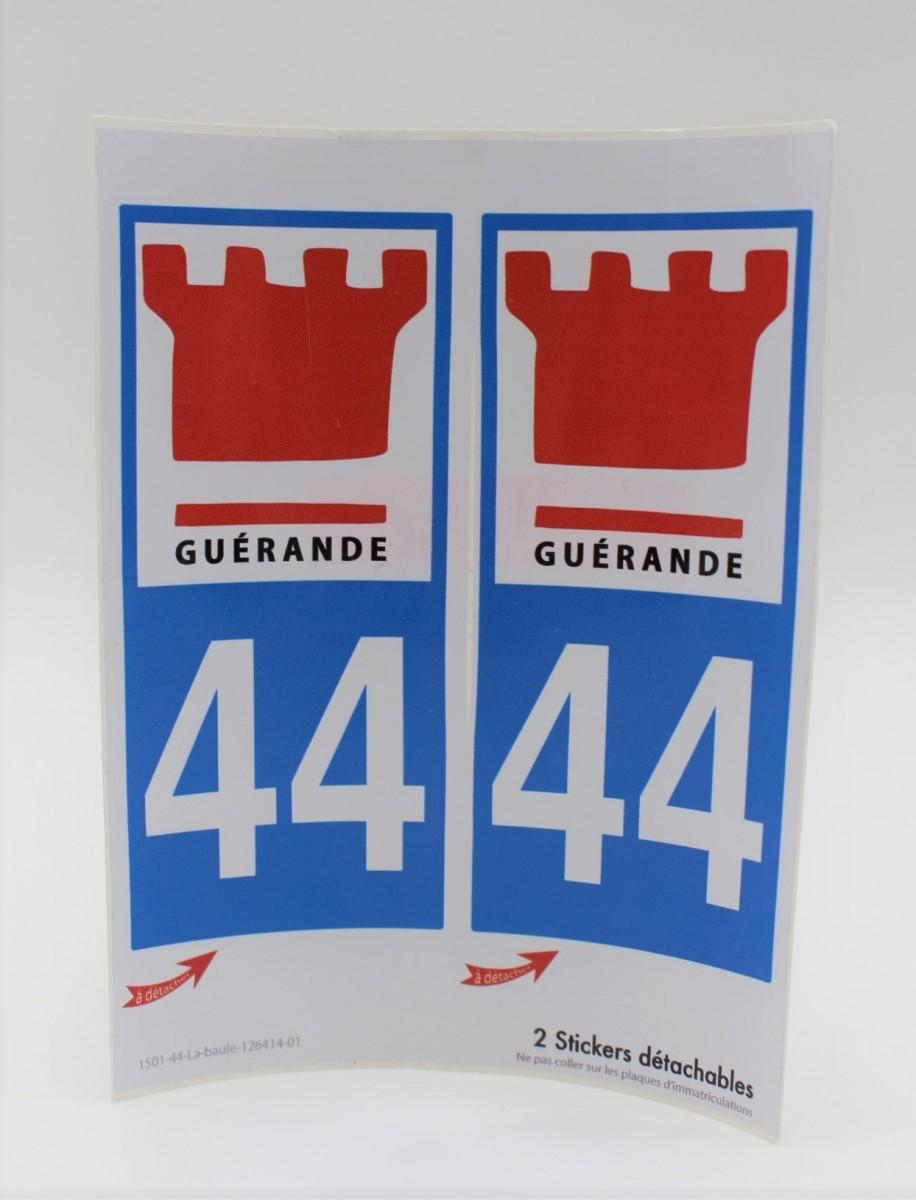 Boutique en ligne - Autocollants plaque d'immatriculation Guérande - Office de tourisme La Baule Presqu'île de Guérande