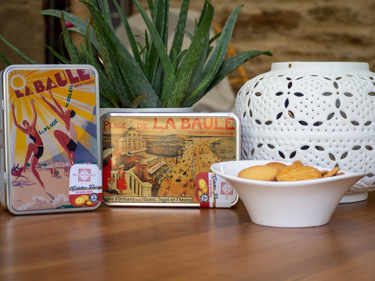 Boutique en ligne - Boite galettes au beurre 300G Plage du Soleil et Casino La Baule - Office de tourisme La Baule Presq'île de Guérande