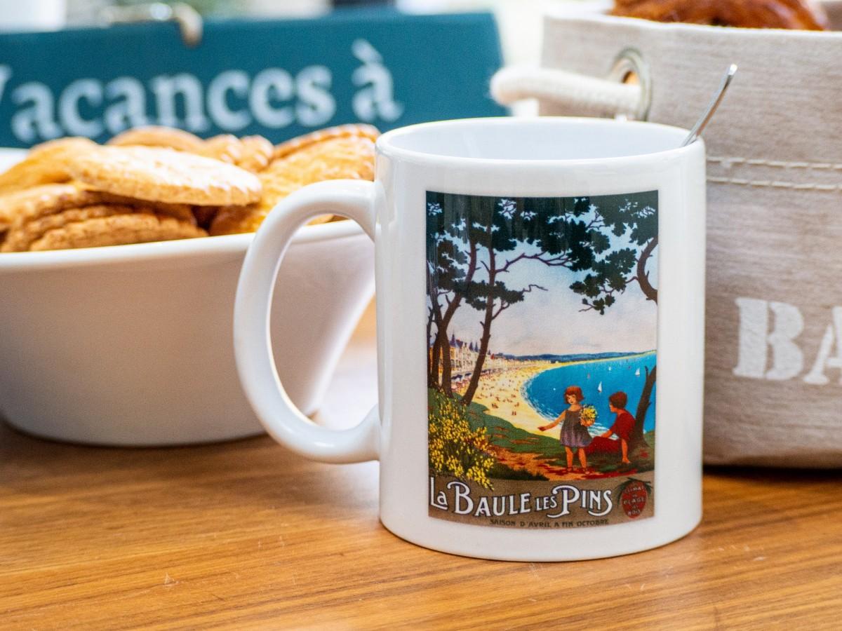 Boutique en ligne - Mug édition Clouet - La Baule Les Pins - Office de tourisme La Baule Presqu'île de Guérande