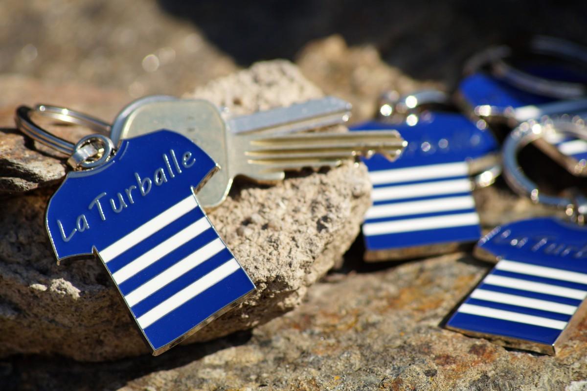 Boutique en ligne - Porte-clés marinière bleue la Turballe - Office de tourisme la Baule-Presqu'île de Guérande