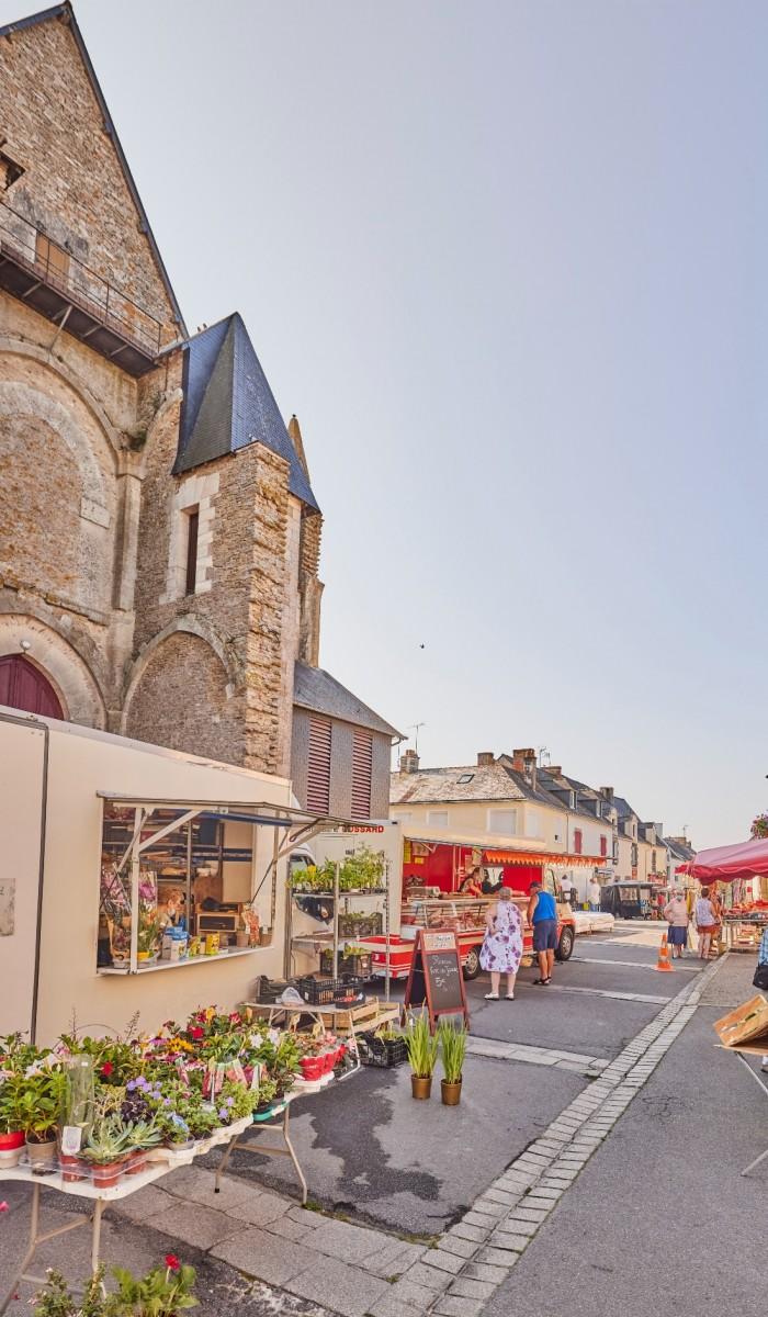 The Herbignac market