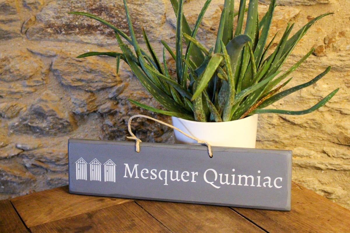 Pancarte cabines Mesquer-Quimiac - Gris clair