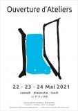 Affiche Ouverture d'Ateliers 22-23-24 mai 2021 Le Pouliguen