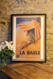 Boutique en ligne - Affiche ancienne - La Baule tente de plage - Office de tourisme La Baule Presqu'île de Guérande