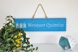 Boutique en ligne - Pancarte en bois cabines Mesquer-Quimiac bleu clair - Office de Tourisme La Baule presqu'île de Guérande