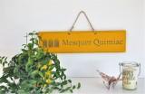 Boutique en ligne - Pancarte en bois cabines Mesquer-Quimiac jaune - Office de Tourisme La Baule presqu'île de Guérande