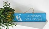 Boutique en ligne - pancarte Ici habitent des Piriacais bleu clair- Office de Tourisme La Baule Presqu'île de Guérande