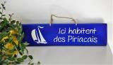 Boutique en ligne - pancarte Ici habitent des Piriacais bleu outremer - Office de Tourisme La Baule Presqu'île de Guérande