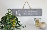 Boutique en ligne - pancarte Ici habitent des Piriacais gris clair- Office de Tourisme La Baule Presqu'île de Guérande