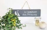 Boutique en ligne - pancarte Ici habitent des Piriacais gris foncé - Office de Tourisme La Baule Presqu'île de Guérande