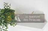 Boutique en ligne - pancarte Ici habitent des Piriacais taupe - Office de Tourisme La Baule Presqu'île de Guérande