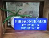 Boutique en ligne - pancarte Latitude Piriac-sur-mer bleu outremer - Office de Tourisme La Baule Presqu'île de Guérande