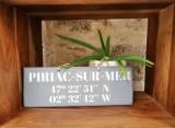 Boutique en ligne - pancarte Latitude Piriac-sur-mer gris foncé - Office de Tourisme La Baule Presqu'île de Guérande