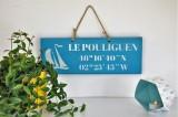 Boutique en ligne - pancarte Le Pouliguen Latitude bleu clair - Office de Tourisme La Baule Presqu'île de Guérande