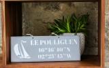 Boutique en ligne - pancarte Le Pouliguen Latitude gris clair - Office de Tourisme La Baule Presqu'île de Guérande