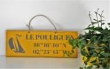 Boutique en ligne - pancarte Le Pouliguen Latitude jaune - Office de Tourisme La Baule Presqu'île de Guérande