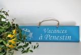 Boutique en ligne - pancarte Vacances à Pénestin bleu clair - Office de Tourisme La Baule Presqu'île de Guérande